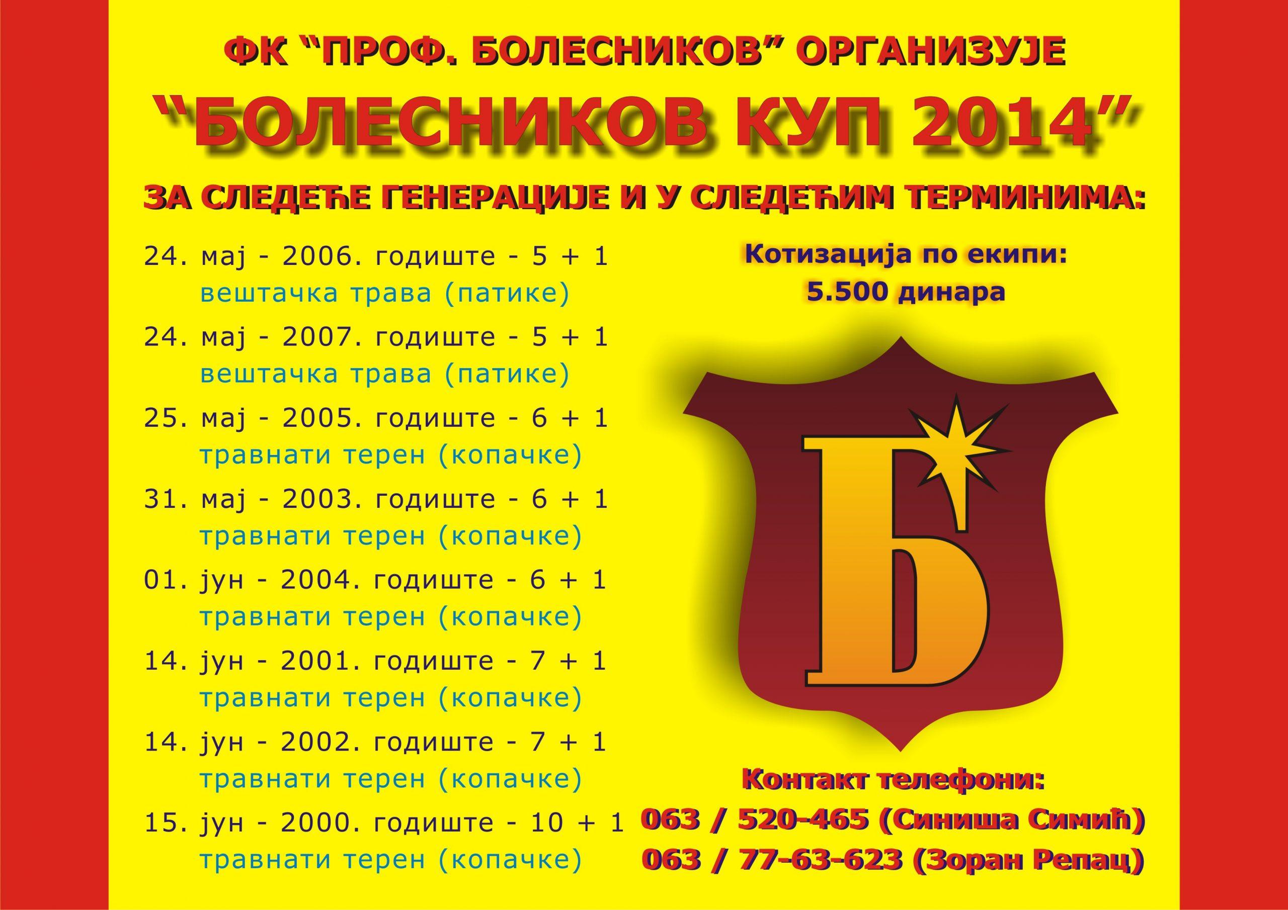 Bolesnikov kup 2014