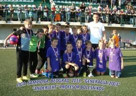 1 – Generacija 2002. nakon osvojene Lige šampiona u Beogradu – avgust 2013. godine