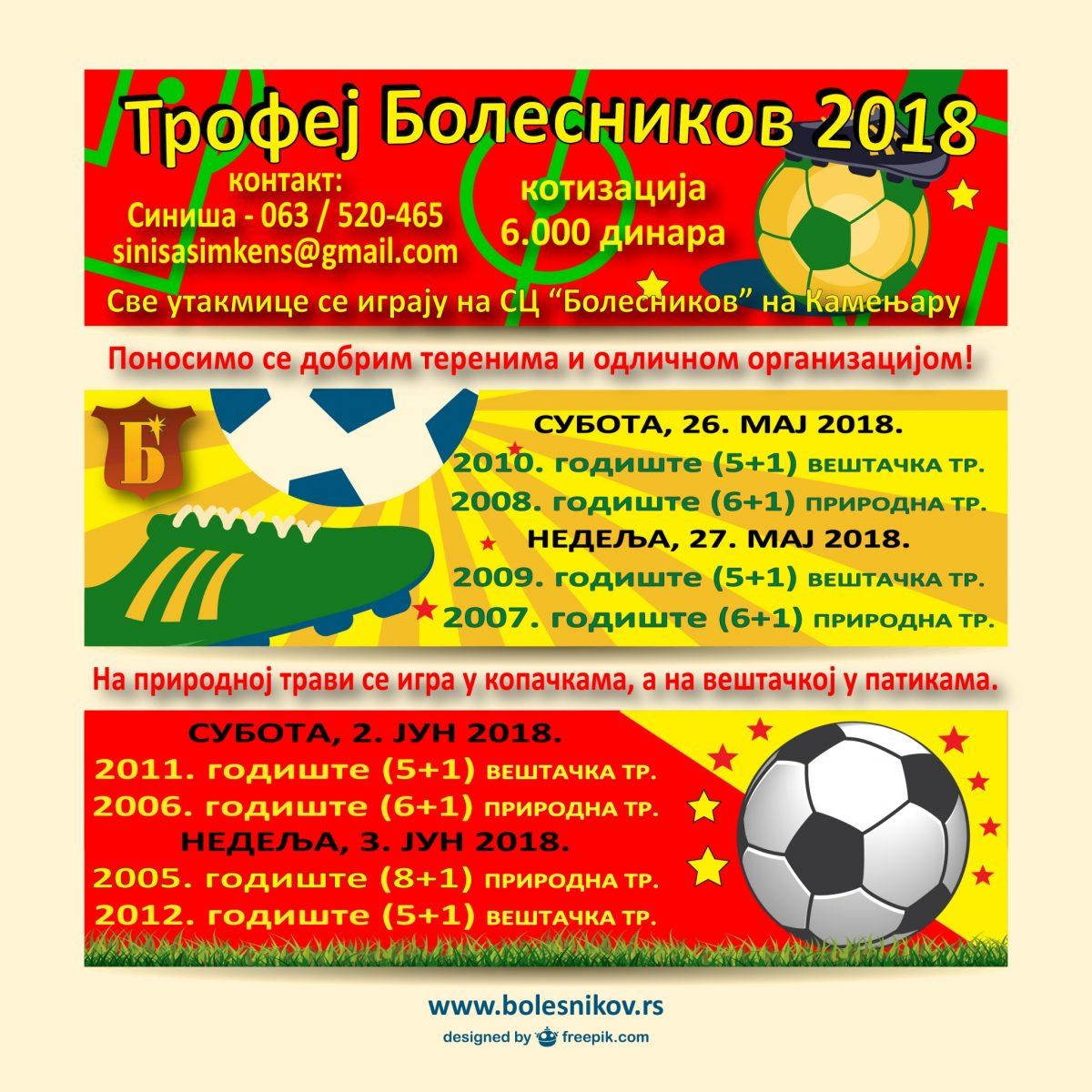 """Trofej Bolesnikov 2018"""